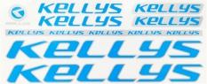 Naklejka na rower Kellys niebiesko srebrna 5 szt