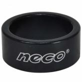 Podkładka steru Neco Alu 28.6x15mm czarna