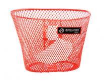 Koszyk rowerowy przedni siatka czerwony mały Spencer