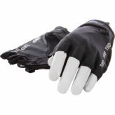Rękawiczki krótkie Mirage czarne XL Lycra