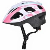 Kask rowerowy dziecięcy Prox Armor S biało-różowy