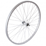 Koło rowerowe przednie 18 stal/alu 28H srebrne
