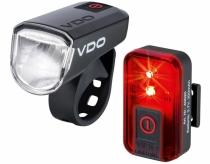 Lampki rowerowe VDO M30 FL + RED RL