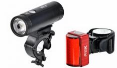 Zestaw lampek rowerowych Prox Spika + Zeta s USB