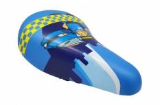 Siodełko rowerowe dziecięce niebieskie policja