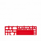 Półka z uchwytami na narzędzia bineer shelf średni