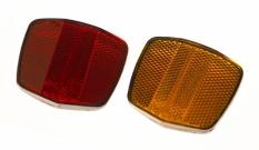 Odblaski rowerowe  TF-115 czerwony/żółty