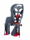 Fotelik rowerowy HTP Fraach imadełko bagażnik szary