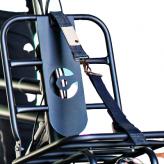 Taśma opaska na przedni bagażnik rowerowy Cortina denim