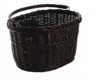 Koszyk rowerowy przedni wiklina ciemny brąz klik