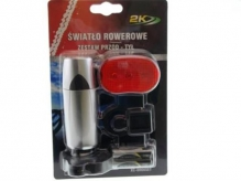 Zestaw lampek rowerowych xc-808 baterie