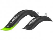 Błotniki rowerowe Simpla Kido 20 czarne/zielone