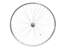 Koło rowerowe tylne 28 wolnobieg nakrętki srebrne