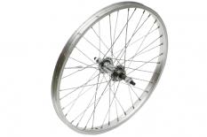 Koło rowerowe tylne 20 wolnobieg srebrne