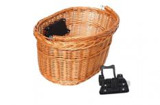 Koszyk rowerowy przedni wiklina klik