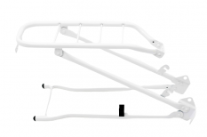 Bagażnik rowerowy Steco 28 biały z podpórką