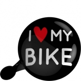 Dzwonek rowerowy Ding Dong UP 80mm I Love My Bike Czarny