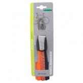Gumy na bagażnik rowerowy Widek 3 taśmy retro pomarańczowy neon - ciemny szary