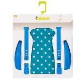 Zestaw do stylizacji tylnego fotelika rowerowego Qibbel niebieski w białe kropki