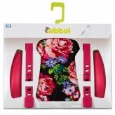 Zestaw do stylizacji przedniego fotelika rowerowego Qibbel kwiaty różowy