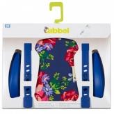 Zestaw do stylizacji przedniego fotelika rowerowego Qibbel kwiaty niebieski