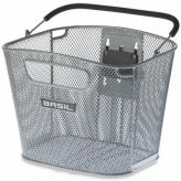 Koszyk rowerowy przedni Basil Bold srebrny