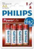 Baterie lr6 philips poweralkali aa 6 szt. blister