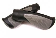 Chwyty rączki rowerowe czarno-szary