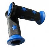 Chwyty rączki rowerowe dziecięce 502 żel gwiazdki niebieskie