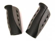 Chwyty rączki rowerowe 90mm czarno/szary