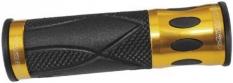 Chwyty rączki rowerowe 939 alu-żel żółto-czarny