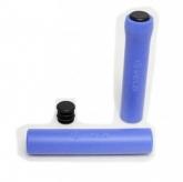 Chwyty rączki rowerowe Velo silikon niebieskie