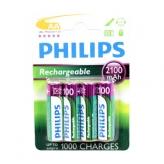 Philips bateria r6 aa opl baar 2100ma