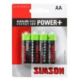 Simson bateriaerijen power + aa