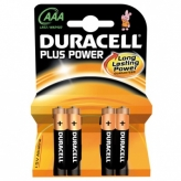 Bateria duracell plus power lr3 aaa 4szt