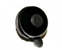 Dzwonek rowerowy czarny z czarną kropką 52mm