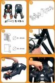 Fotelik rowerowy Bellelli Rabbit b-fix na przód szary