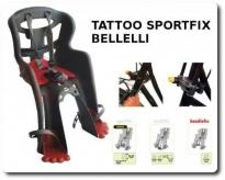 Fotelik rowerowy Bellelli Tatoo fix szary na przód