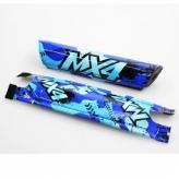 Osłona ramy kawasaki kx4 16'' niebieska