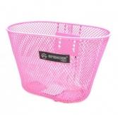 Koszyk rowerowy przedni siatka różowy mały Spencer