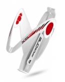 Koszyk bidonu Raceone x5 biało-czerwony