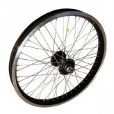 """Koło rowerowe przednie 20"""" alu BMX 48-otw czarne m14"""