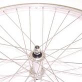 Koło rowerowe przednie merkloos paralax 28'' srebrne
