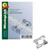 Spinka łańcucha KMC X1 3/32 Silver (2szt)