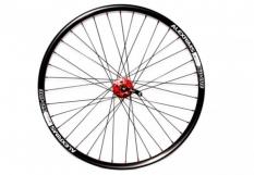 """Koło rowerowe przednie 26"""" q-lai red maszyna tarcza alex czarna"""