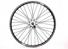 """Koło rowerowe przednie 26"""" q-lai biała maszyna tarcz  alex czarna"""