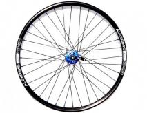 """Koło rowerowe tylne 26"""" q-lai blue maszyna tarcza alex czarna"""