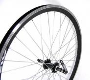 """Koło rowerowe tylne 28"""" stożek piasta Quando QR czarne"""
