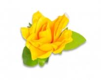 Kwiat na kierownicę  róża żółta