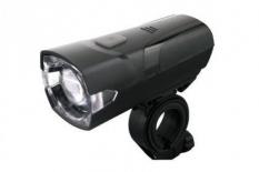 Lampka rowerowa przednia LED baterie czarna